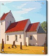 Saint Gabrielle Acrylic Print