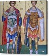Saint George And Saint Dimitrios Acrylic Print