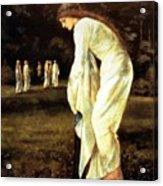 Saint George And The Dragon The Princess Tied To The Tree 1866 Acrylic Print