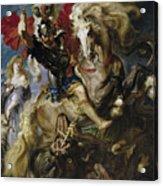 Saint George Battles The Dragon Acrylic Print