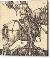 Saint George On Horseback Acrylic Print