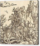 Saint George Slaying The Dragon Acrylic Print