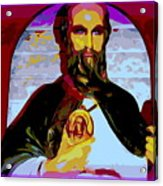 Saint Holding Medallion Acrylic Print