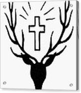 Saint Huberts Stag Acrylic Print