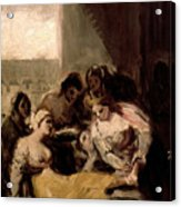 Saint Isabel Of Portugal Healing The Wounds Of A Sick Woman Acrylic Print