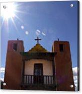 Saint Jeromes Chapel Taos Pueblo Acrylic Print