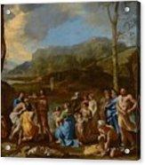 Saint John Baptizing In The River Jordan Acrylic Print