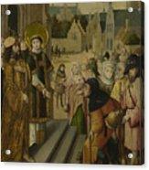 Saint Lawrence Before The Prefect Acrylic Print