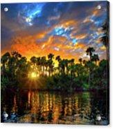 Saint Lucie River Sunset Acrylic Print
