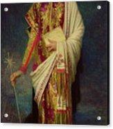 Saint Margaret Slaying The Dragon Acrylic Print by Antoine Auguste Ernest Herbert