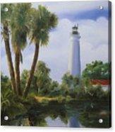 Saint Marks Lighthouse Florida Acrylic Print