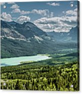 Saint Mary Lake Panorama Acrylic Print