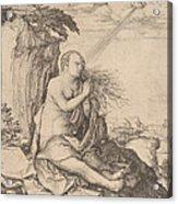 Saint Mary Magdalene In The Desert Acrylic Print