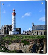 Saint-mathieu Lighthouse And The Ruins Of The Abbey Of Saintlmat Acrylic Print