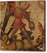 Saint Michael And The Dragon Acrylic Print