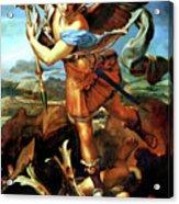 Saint Michael Overthrowing The Demon  Acrylic Print by Raphael