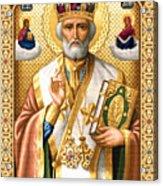 Saint Nicholas Acrylic Print by Stoyanka Ivanova