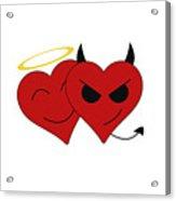 Saint Or Evil Acrylic Print
