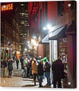 Saint Patrick's Day On Marshall Street Boston Ma Acrylic Print