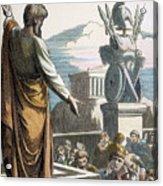 Saint Paul At Athens Acrylic Print