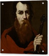 Saint Paul  Acrylic Print by Jusepe de Ribera