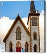 Saint Paul's Episcopal Church Verginia City Nevada Acrylic Print