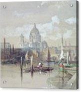 Saint Pauls From The River Acrylic Print by David Roberts