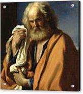 Saint Peter Penitent Acrylic Print