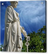 Saint Peter With Keys To Heaven Acrylic Print