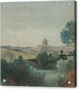 Saint Peter's Seen From The Campagna Acrylic Print by George Snr Inness