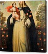 Saint Rose Of Lima With Child Jesus Acrylic Print