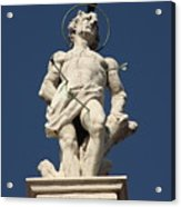 Saint Sebastian On Church In Venice Acrylic Print