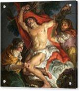 Saint Sebastian Tended By Saint Irene Acrylic Print