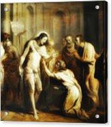 Saint Thomas Touching Christ's Wounds Acrylic Print