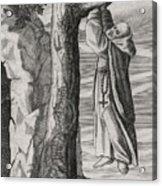 Saint Victorinus Does Penance Acrylic Print