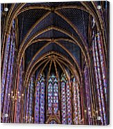 Sainte Chapelle Stained Glass Paris Acrylic Print