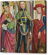 Saints Ambrose Exuperius And Jerome Acrylic Print