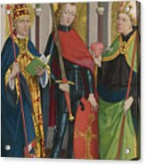 Saints Gregory Maurice And Augustine Acrylic Print