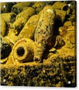 Sake Bottles In A Shipwreck In Truk Acrylic Print
