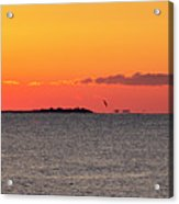Sakonnet Point Sunrise And Lighthouse Acrylic Print