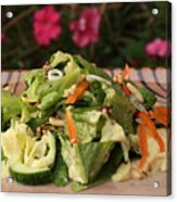 Salad On The Terrace Acrylic Print by Murtaza Humayun Saeed