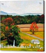 Salem Cemetery In October Acrylic Print