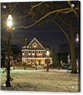 Salem Commons Winter Snow At Christmas Salem Ma Acrylic Print