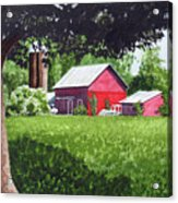 Salem County Farm, Framed Acrylic Print