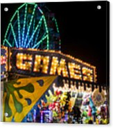 Salem Ma Halloween Carnival Games Booth Acrylic Print