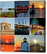 Salem Ma Nine Picture Collage Acrylic Print