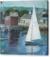 Saling In Rockport Ma Acrylic Print