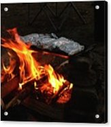 Salmon On The Fire Acrylic Print