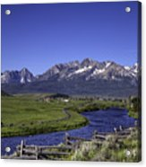 Salmon River And Sawtooth Mountains Acrylic Print
