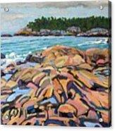 Salmon Rocks Acrylic Print